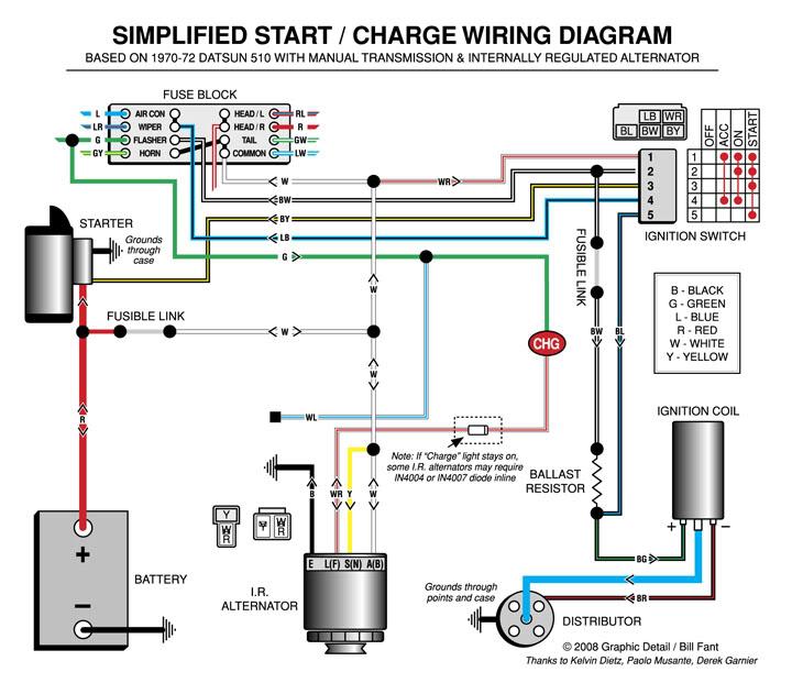 Datsun 510 Wiring Diagram - Wiring Diagram K8 on