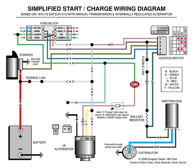 start-charging-catsun-510-wiring-diagram-electric Jantel Electric Start Wiring Diagram on