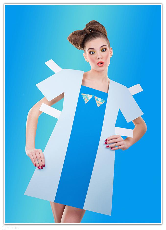 фотосессия в бумажном платье