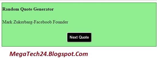 javascript random quote generator