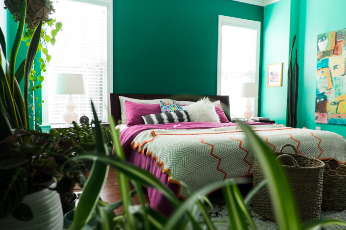 Green Is The New Black: A Paint Update in My Master Bedroom-designaddictmom