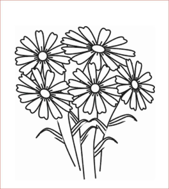 gambar-sketsa-bunga-mudah
