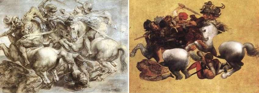 Battaglia di Anghiari: copia di Paul Rubens e Tavola Doria