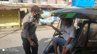 Bhabinkamtibmas Cambayya rutin Patroli Sambang Ingatkan Prokes, Guna Minimalisir Penyebaran Covid-19