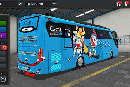 Livery Bussid Mod Scania Doraemon