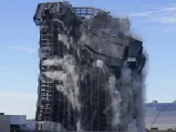 Donald Trump's hotel explodes in seconds with a bang