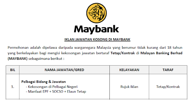 job maybank