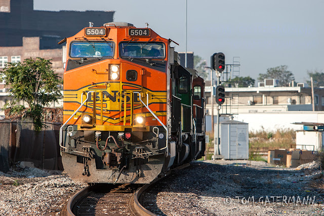 BNSF 5504 at TRRA's North Market Interlocking in St. Louis, MO.