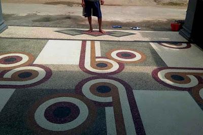 Jasa Batu Sikat : Lantai Carport Plester