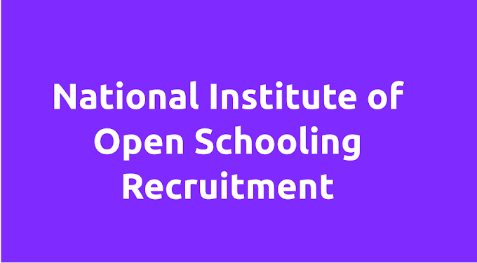 National Institute of Open Schooling Recruitment