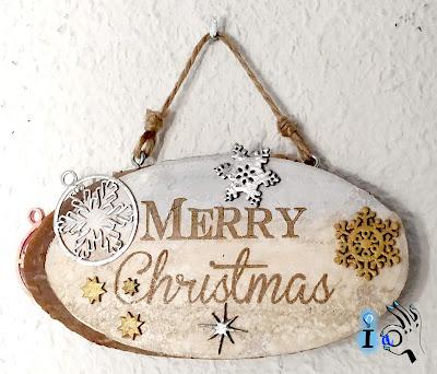Cartel de Navidad reversible Ideadoamano