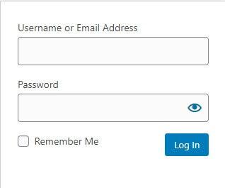 WordPress Login Form