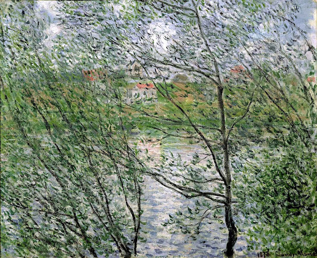 Claude Monet 1878 trees at river