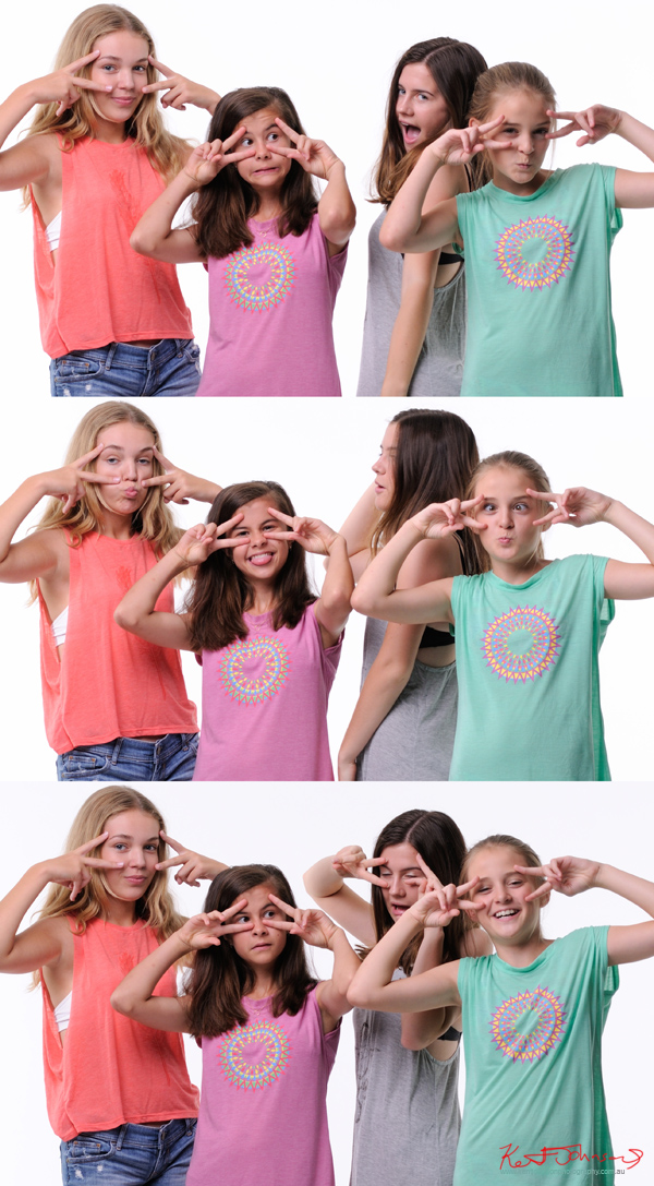 Fun and pulling funny faces, AKA keeping it fresh! Tween to Teen Fashion - Look-book & Branding Photography