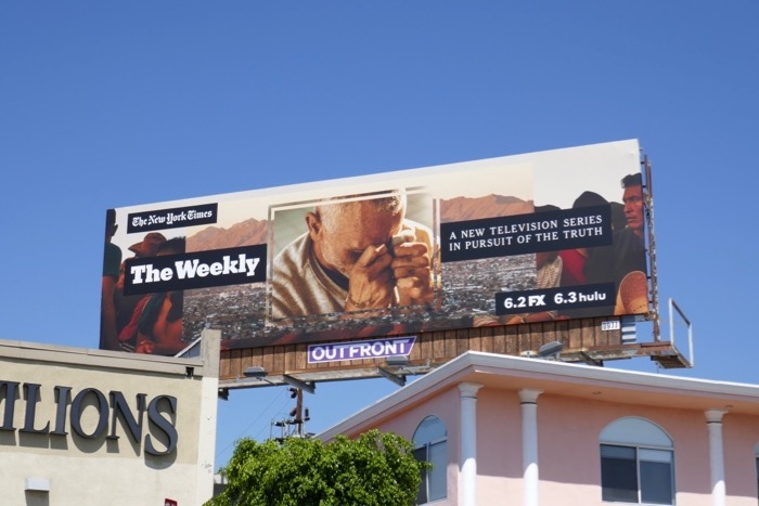 NY Times Weekly series launch billboard