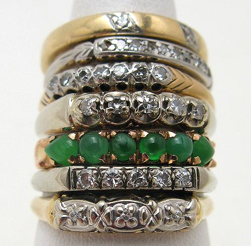 Kaylin Fitzpatrick Stacked Rings