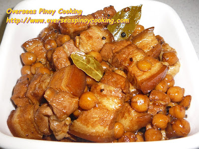 Pork Adobo with Garbanzos Dish