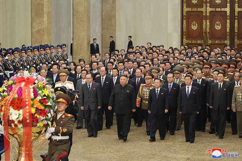 Kim Jong Un, WPK General Secretary, Visits Kumsusan Palace of Sun, January 12, 2021