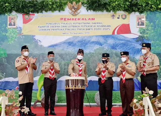 Widya Pratiwi Murad Buka Acara Pembekalan Pengurus Gerakan Pramuka Maluku.lelemuku.com.jpg