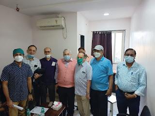 नर्सिंग होम एसोेसिएशन एवं इंडियन मेडिकल एसोसिएशन मेम्बर्स ने लगवायें कोविड-19 के टीके