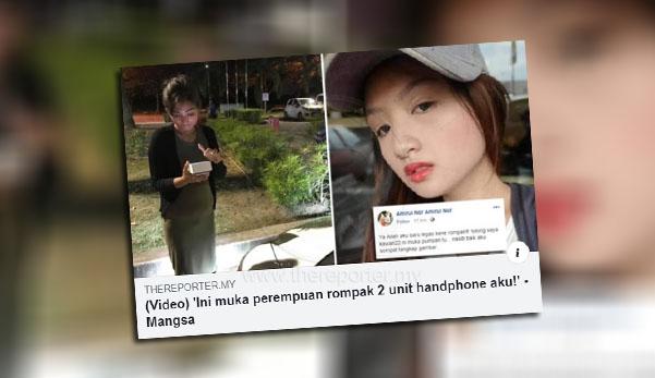 Wanita rompak handphone seller ditahan, rupanya positif dadah