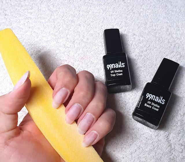 Shellac Anwendung, Nägel vorbereiten