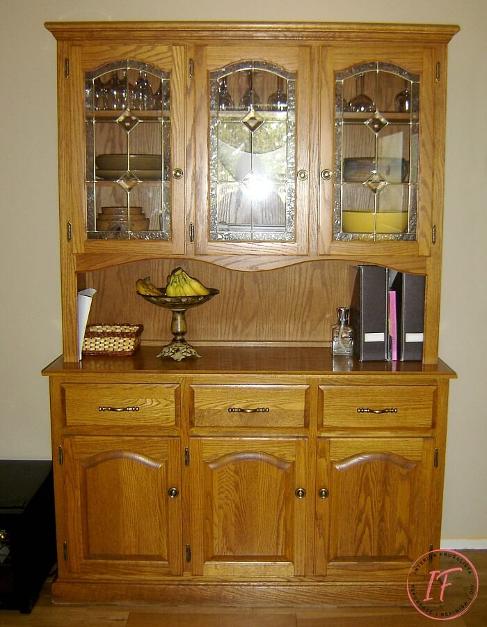 Built-In Kitchen Pantry Makeover China Cabinet Before