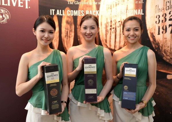 Pretty ladies with the three range from the Glenlivet Master Distiller's Reserve Range