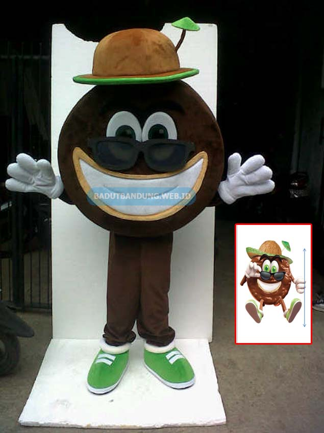 Desain badut biskuit kelapa maskot much better