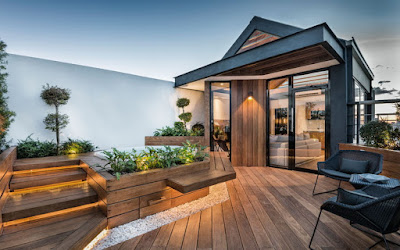 Rooftop Terrace Modern Design With Wooden Floor