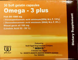 سعر ودواعي استعمال كبسولات أوميجا 3 بلس Omega Plus مكمل غذائي