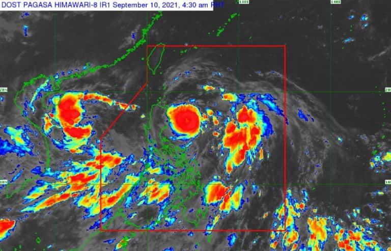 Satellite image of 'Bagyong Kiko'
