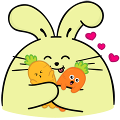 Download Sticker Facebook Lucu Fat Rabbit