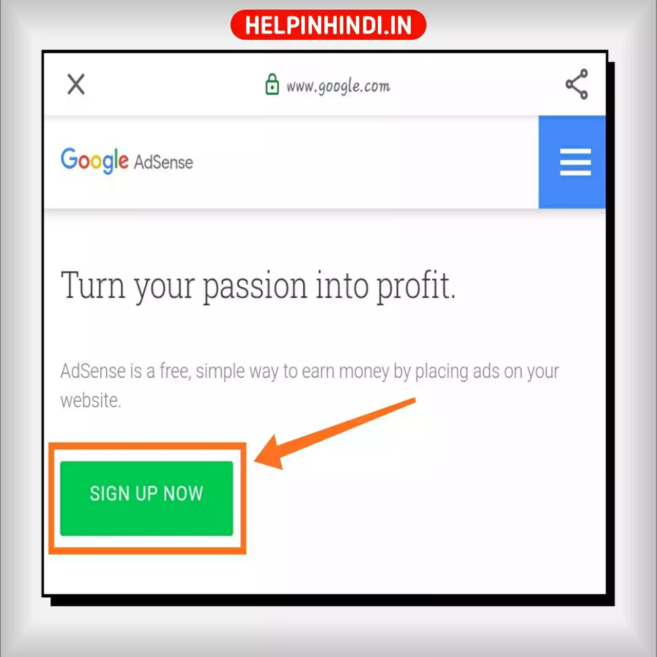 Create Google Adsense Account