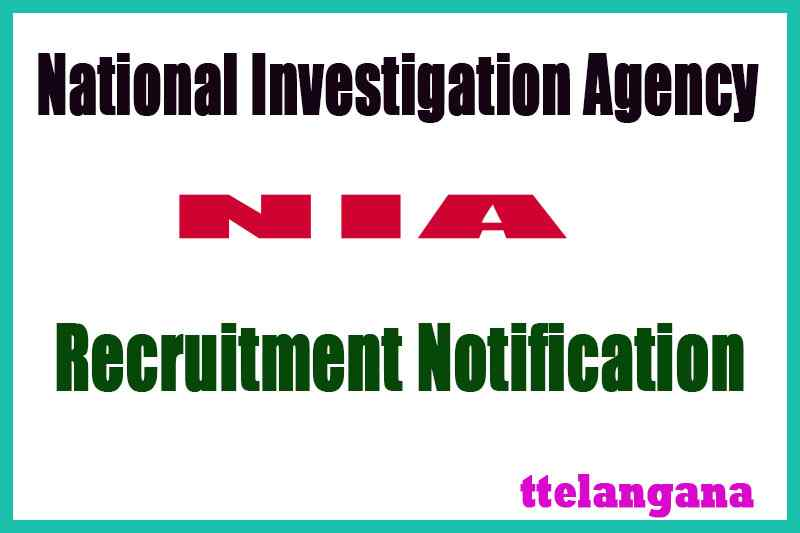NIA (National Investigation Agency) Recruitment Notification