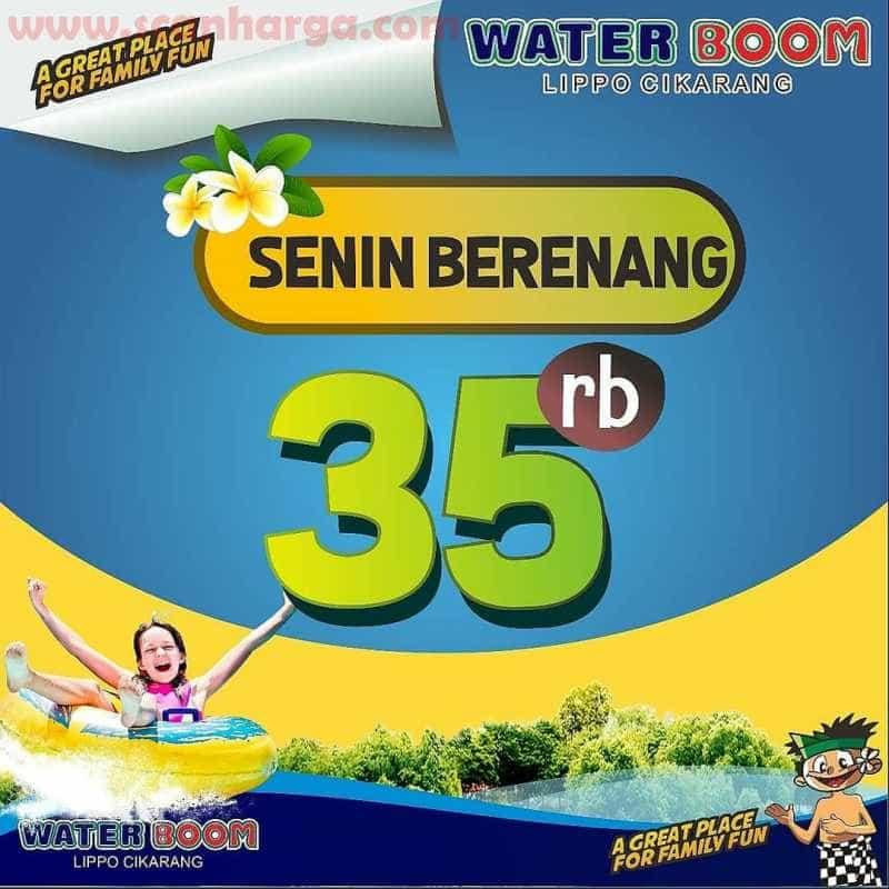 Promo Waterboom Senin Berenang 35Ribu Periode Juli 2020