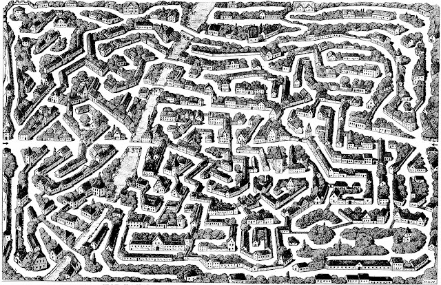 large Dutch maze drawing 1927