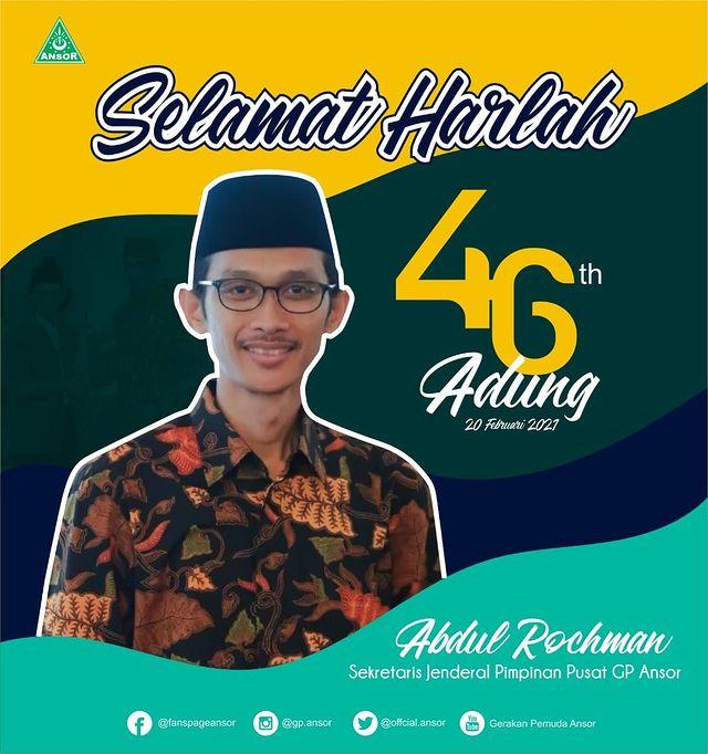 Selamat Harlah Kang Adung, Sekjen GP Ansor