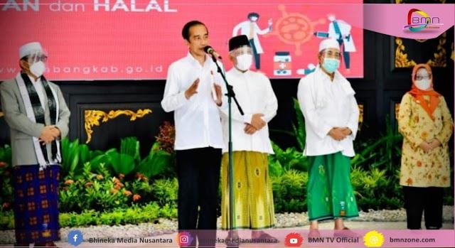 Jokowi ; Fatwa Ulama Vaksin Astra Zeneca Halal Tayyib
