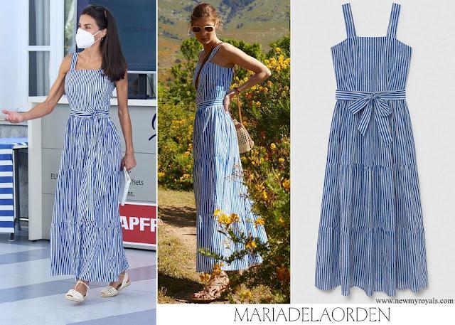 Queen Letizia wore Maria de la Orden Studio Capri Dress Navy