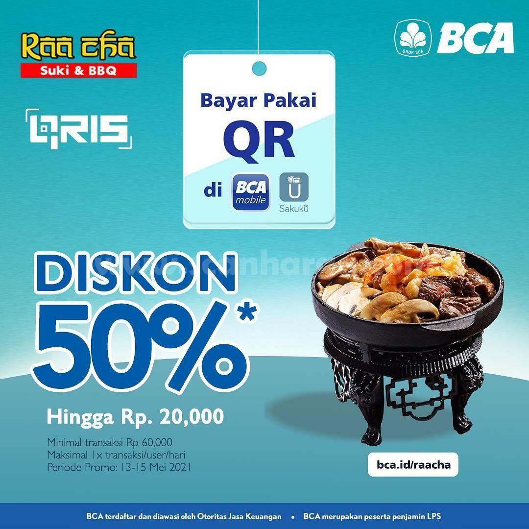 Promo RAA CHA SUKI DISKON 50% dengan Qris BCA Mobile