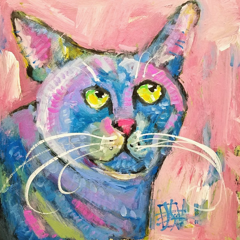 CAT #23 by Joanie Springer #30cats  30 CATS in 30 Days
