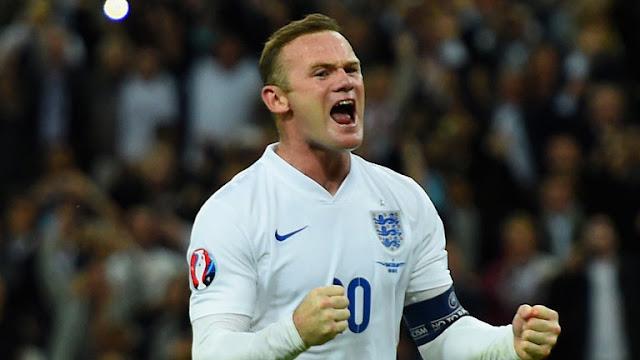 Rooney akisherehekea goli kwenye moja wapo ya mechi za timu ya taifa ya Uingereza. Picha/Getty Images