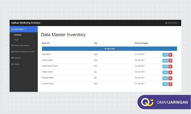 Fitur Data Master Inventory Barang Review Aplikasi Inventory Barang Berbasis Web Php, MySQL dan Codeigniter