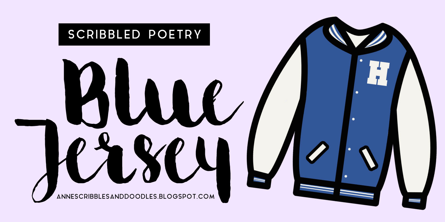 Blue Jersey by Anne Macachor | Anne's Scribbles and Doodles | Weightlifting Fairy Haneol Sports University Varsity Jacket