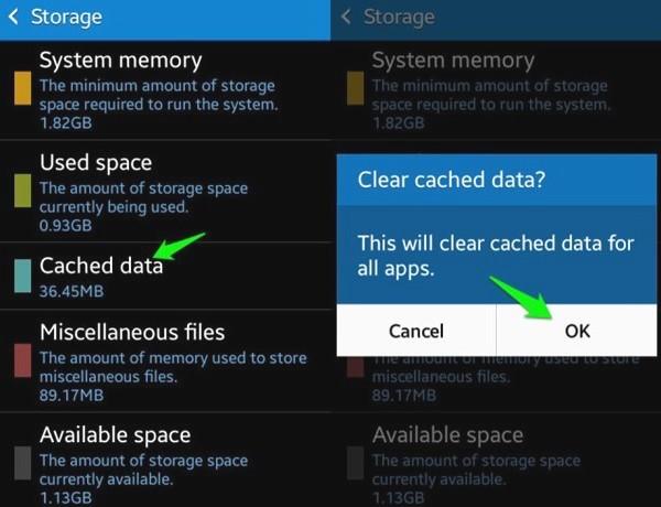 Bersihkan Data Cache Android