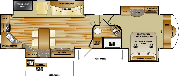 Rushmore 5th Wheels Floorplans