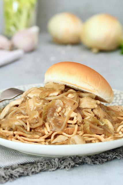 Chicken Chow Mein Sandwich