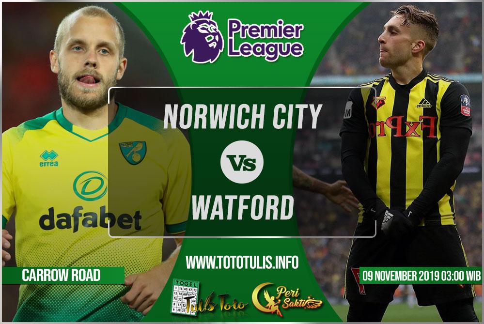 Prediksi Norwich City vs Watford 09 November 2019