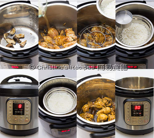 Shiitake Chicken and Rice in Instant Pot Procedures02